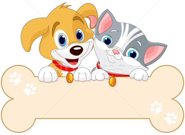 Cat and Dog Sign Stock photo © Dazdraperma