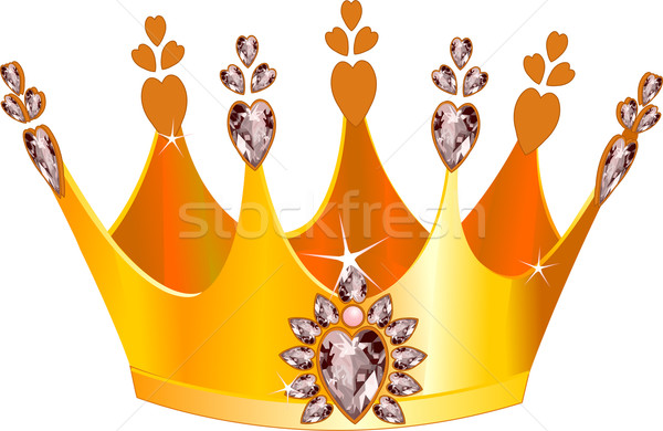 Mooie tiara illustratie goud kunst diamant Stockfoto © Dazdraperma