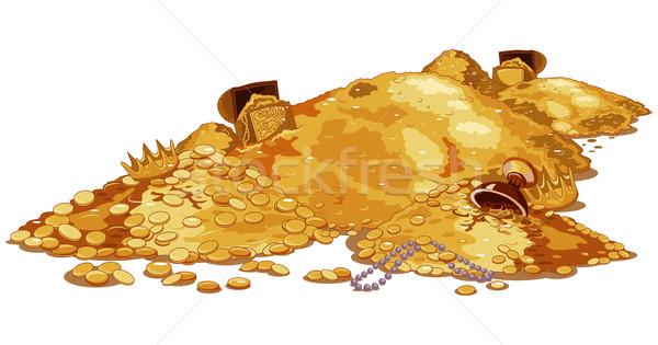 Schat illustratie magie schatkist metaal Stockfoto © Dazdraperma