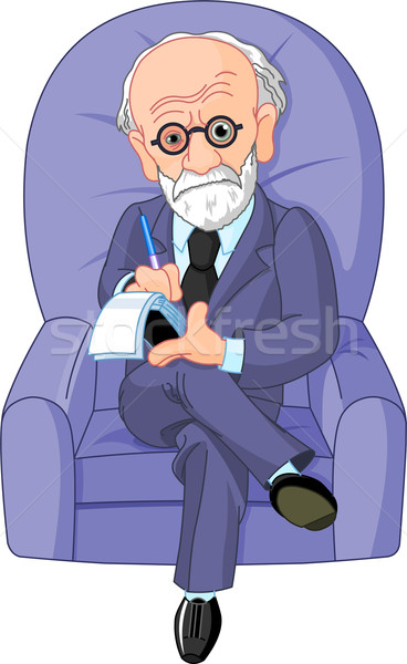Dr. Freud psychotherapist Stock photo © Dazdraperma