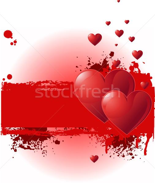 Valentine Grunge banner Stock photo © Dazdraperma