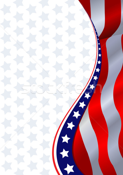 Stockfoto: Amerikaanse · vlag · verticaal · achtergrond · sterren · militaire · foto