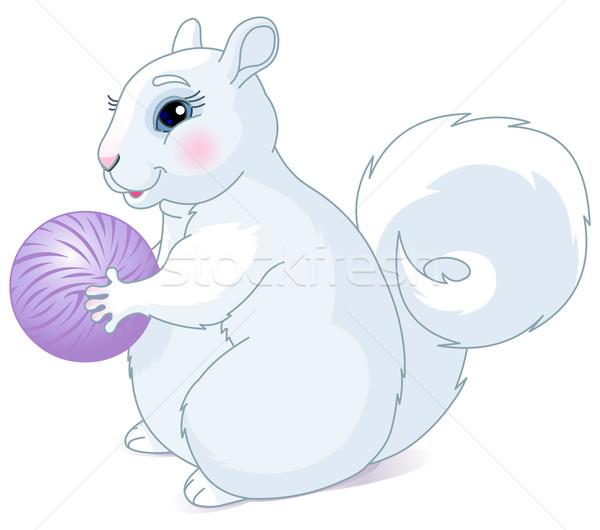 Biały wiewiórki tłuszczu orzech żywności Zdjęcia stock © Dazdraperma