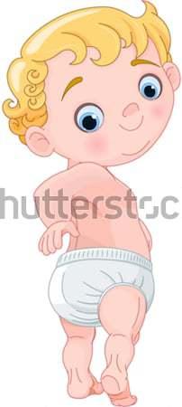 Cute baby illustratie naakt naakt jongen Stockfoto © Dazdraperma