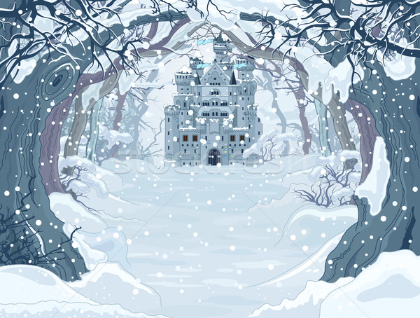 Magic Winter Castle Stock photo © Dazdraperma