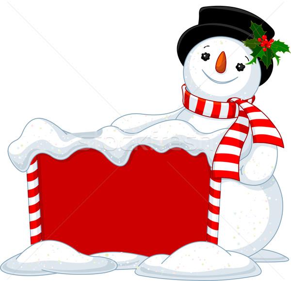 Christmas board and Snowmen Stock photo © Dazdraperma