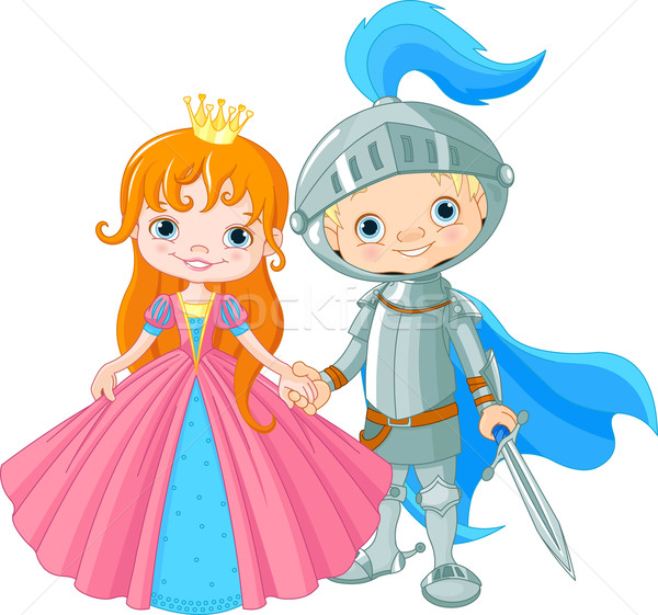 Medieval Lady and Knight Stock photo © Dazdraperma