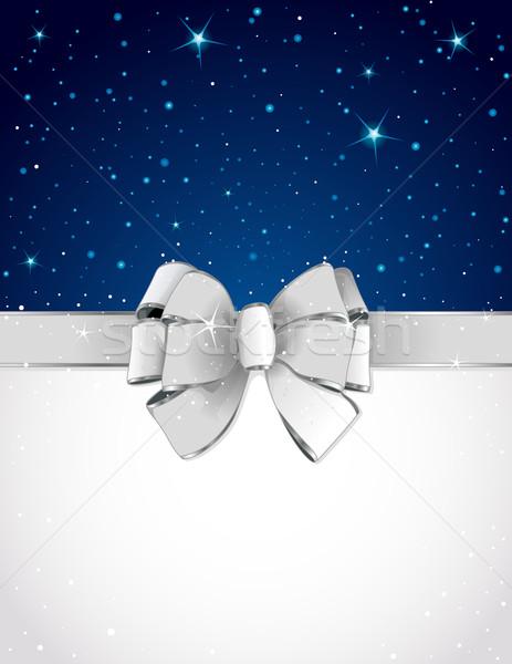 Christmas wenskaart boeg exemplaar ruimte sneeuw teken Stockfoto © Dazdraperma