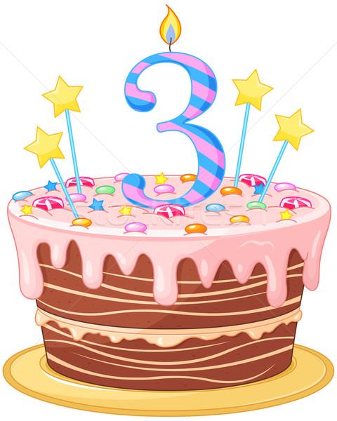 Birthday Cake Stock photo © Dazdraperma
