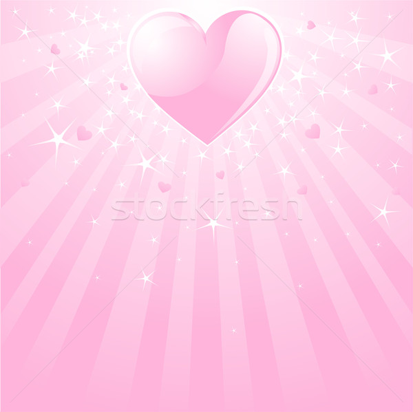 Valentine pink heart, stars and stripes Stock photo © Dazdraperma