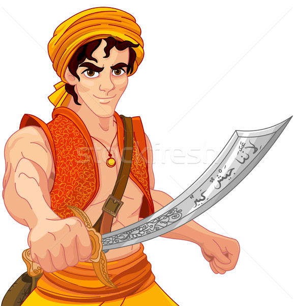 Aladdin and Wonderful Saber Stock photo © Dazdraperma