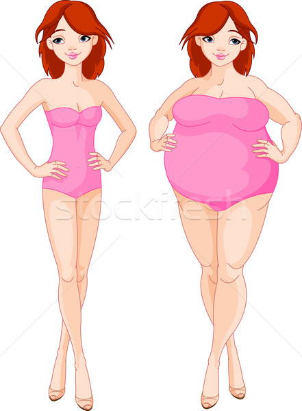 Before and after diet Stock photo © Dazdraperma