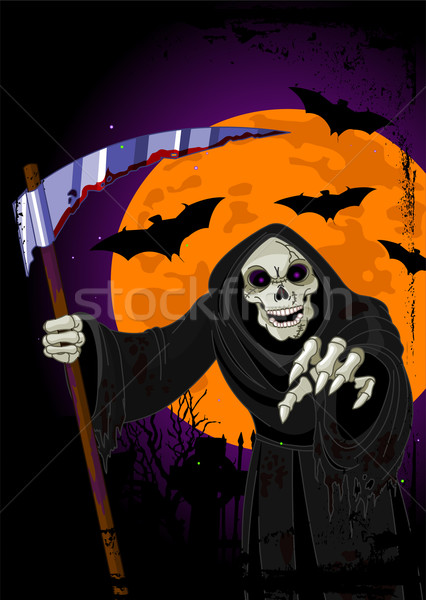 Halloween sinistre horrible lune morts cartoon Photo stock © Dazdraperma
