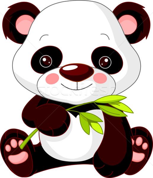 Stock fotó: Jókedv · állatkert · panda · illusztráció · aranyos · baba