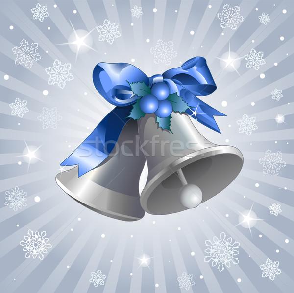 Christmas zilver Blauw speelgoed viering graphics Stockfoto © Dazdraperma