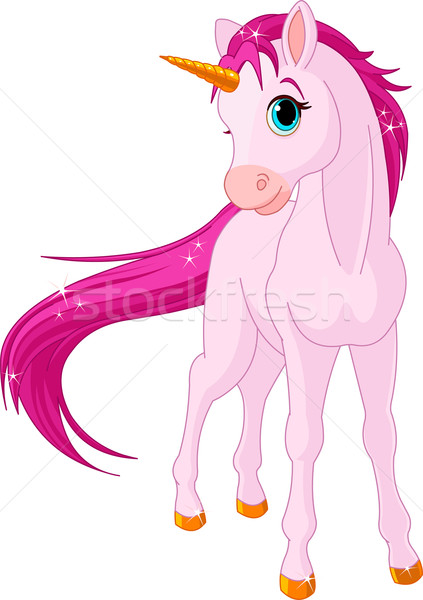 Baby unicorn Stock photo © Dazdraperma
