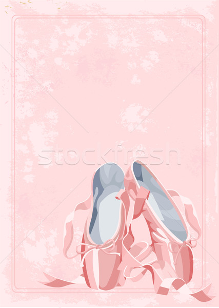 Stock photo: Ballet slippers background