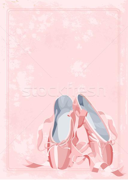 Ballet slippers background Stock photo © Dazdraperma