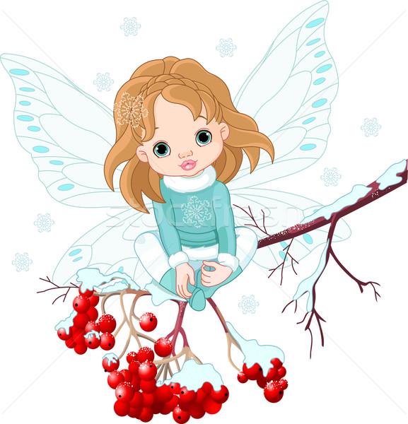 зима ребенка фея сидят зола Сток-фото © Dazdraperma