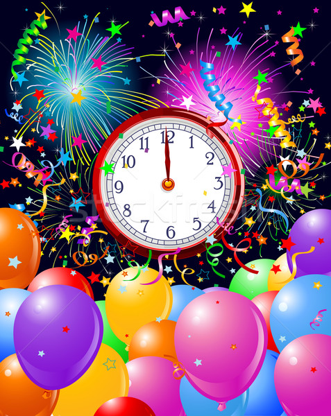 New Year midnight clock background Stock photo © Dazdraperma