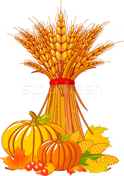 Thanksgiving / harvest background Stock photo © Dazdraperma