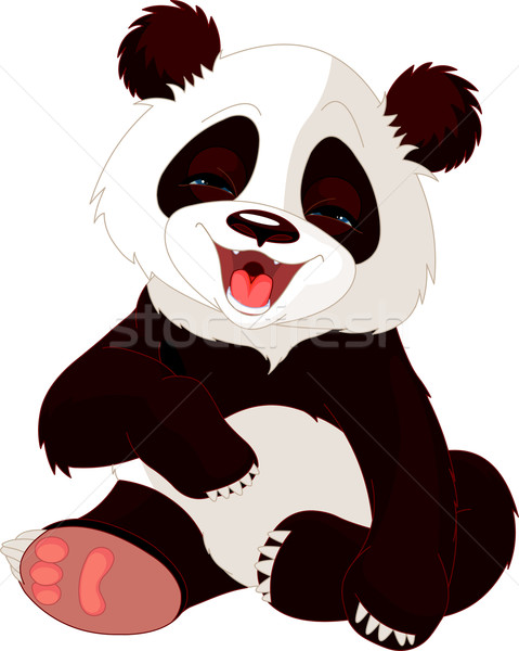 Baby Panda laughing Stock photo © Dazdraperma