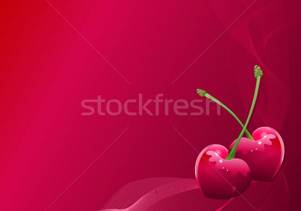 Liefde kers Valentijn achtergrond banner Stockfoto © Dazdraperma