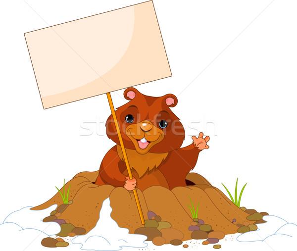 Groundhog Day billboard Stock photo © Dazdraperma