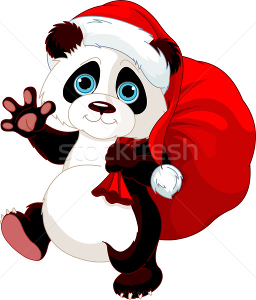Panda with a sack full of gifts  Stock photo © Dazdraperma