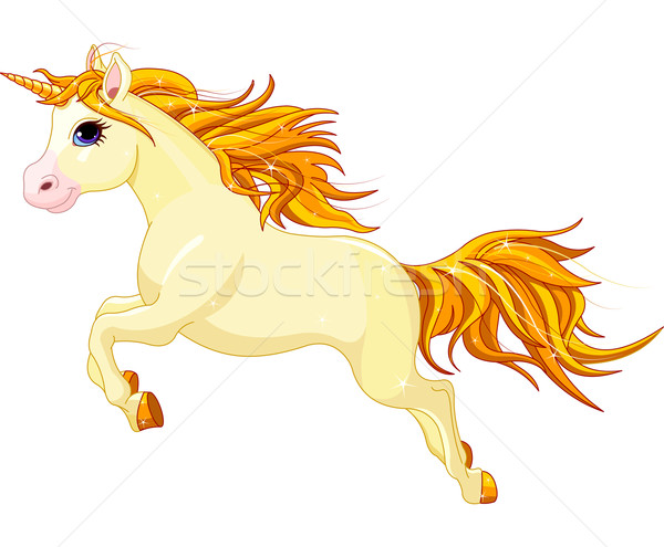 Running unicorn Stock photo © Dazdraperma