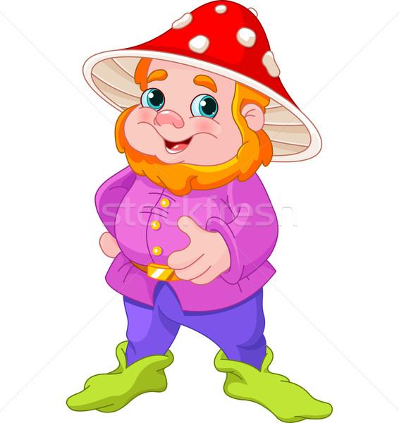 Cute gnome illustrazione funghi Hat divertimento Foto d'archivio © Dazdraperma