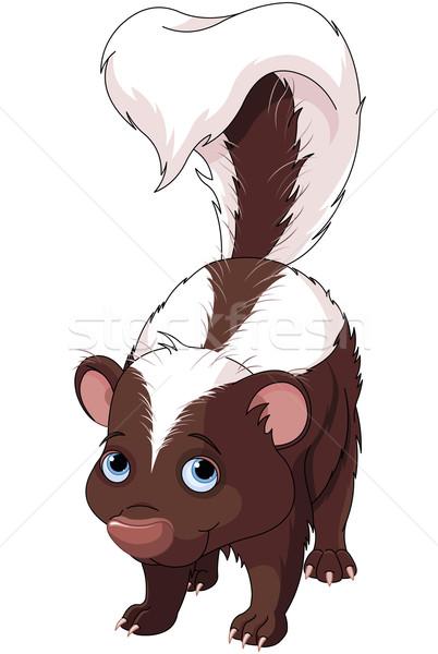 Stinkdier illustratie cute kunst leuk dieren Stockfoto © Dazdraperma