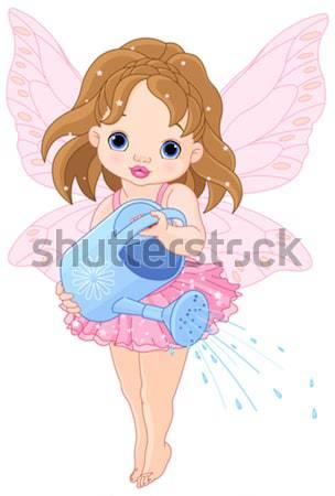 Aranyos illusztráció meztelen művészet fiú kártya Stock fotó © Dazdraperma