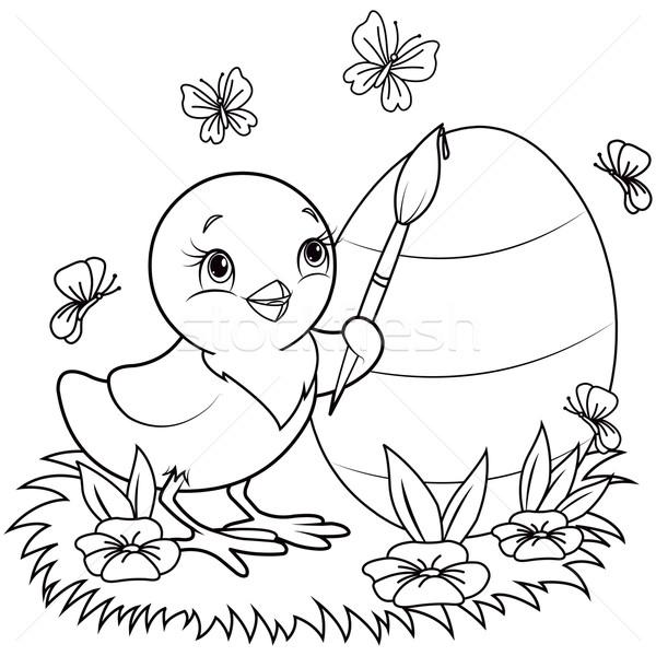 Easter Chicken Vector Illustration Anna Velichkovsky Dazdraperma