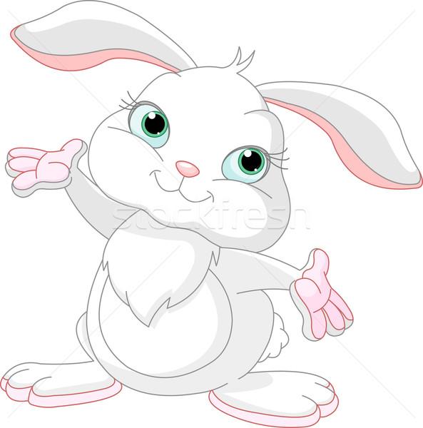 Gelukkig bunny cute weinig omhoog Stockfoto © Dazdraperma