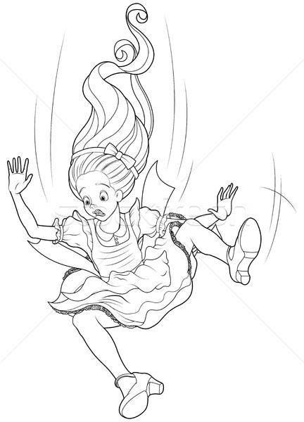 Falling Alice Coloring Page Stock photo © Dazdraperma