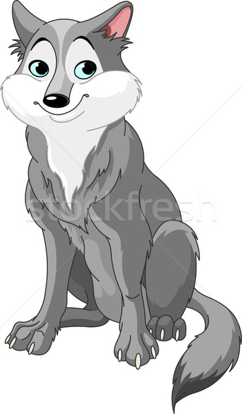Cartoon wolf Stock photo © Dazdraperma