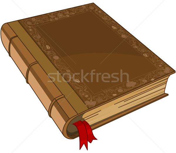 Sprookje illustratie oude boek frame Stockfoto © Dazdraperma