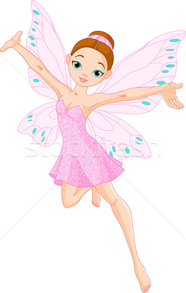 Cute pink  fairy Stock photo © Dazdraperma