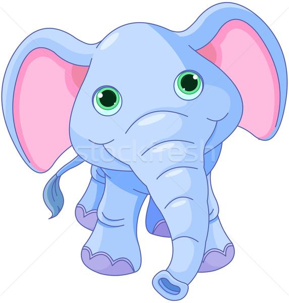Cute elephant Stock photo © Dazdraperma