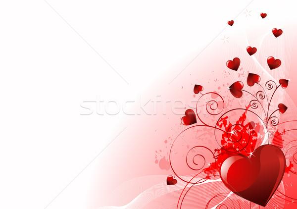 Valentin nap absztrakt szívek hely esküvő szeretet Stock fotó © Dazdraperma