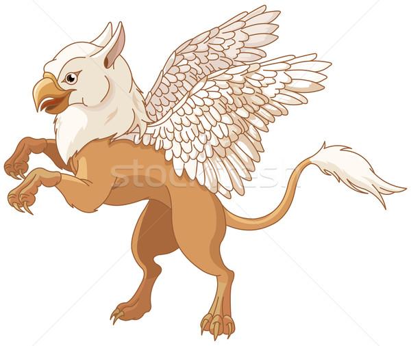 Flying грифон иллюстрация магия орел дракон Сток-фото © Dazdraperma