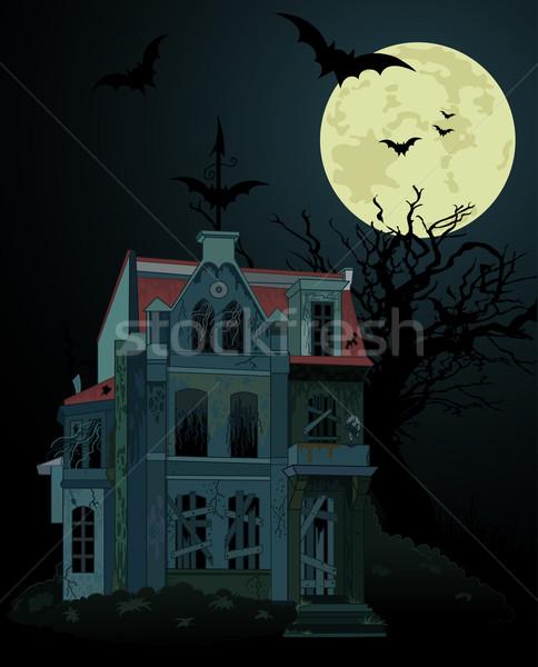 Spooky haunted house background Stock photo © Dazdraperma