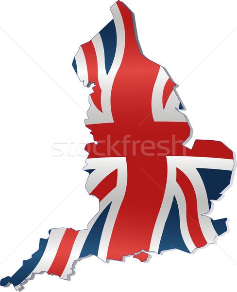 Térkép brit zászló vidék keretek terv kék Stock fotó © Dazdraperma