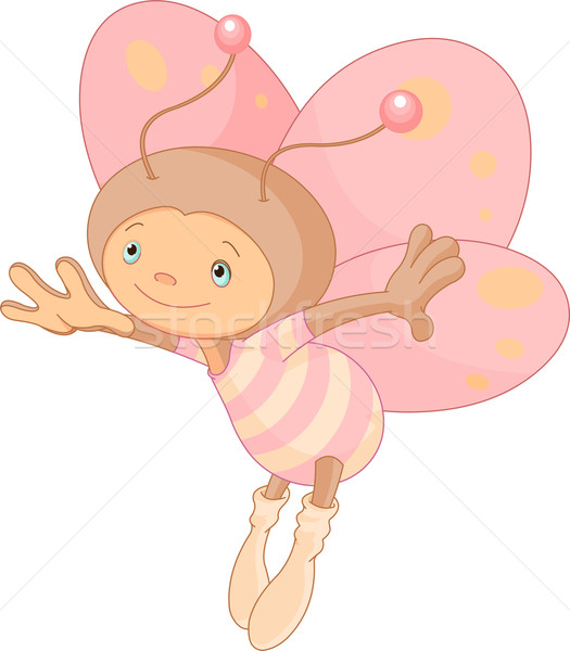 Cute бабочка иллюстрация Flying животного Cartoon Сток-фото © Dazdraperma