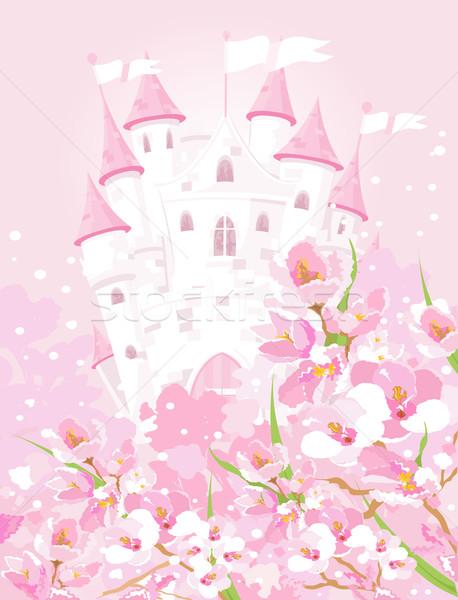 Fairytale castle Stock photo © Dazdraperma