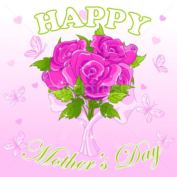 Mães dia projeto feliz dia das mães rosas família Foto stock © Dazdraperma