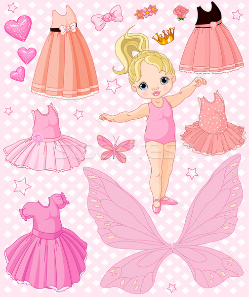 Baby Girl with different ballet and princess dresses  Stock photo © Dazdraperma