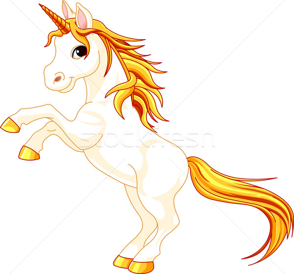 Rearing up unicorn Stock photo © Dazdraperma