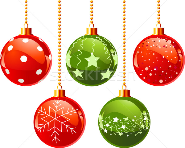 Color christmas balls vector illustration anna